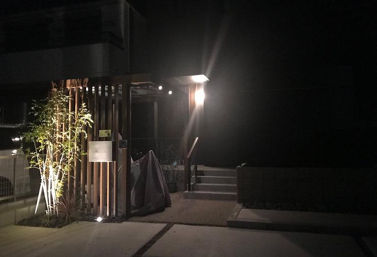 シンボルツリーの植栽・夜を演出するライティング・オープン外構の相談はSun east planningへ