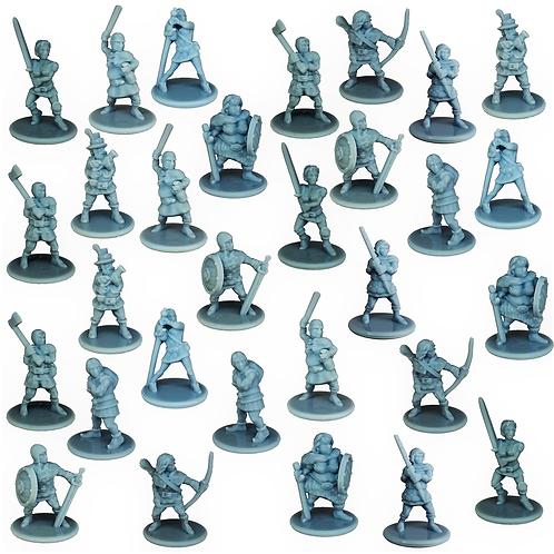 Bandits Miniature Fantasy Figurines Set of 30