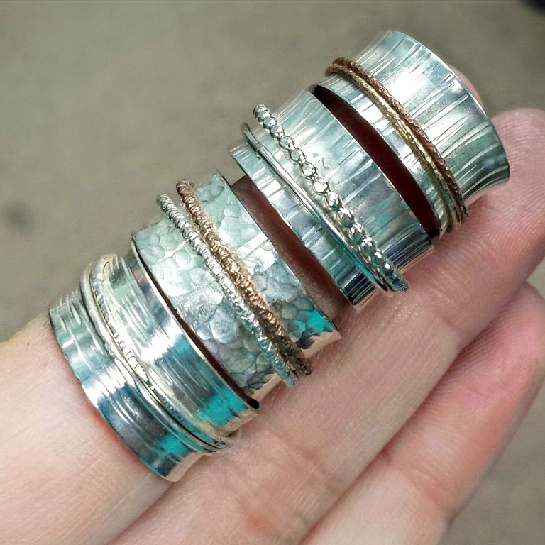 Kitchen Table Silver Smithing- Spinner Rings