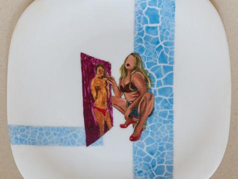 Título: Autorretrato 2020 / Técnica: Acrílica s/ Ceramica