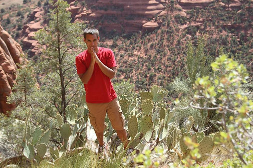 "Kaizer at a Sedona Arizona ""Vortex"", 2014 21 yea"