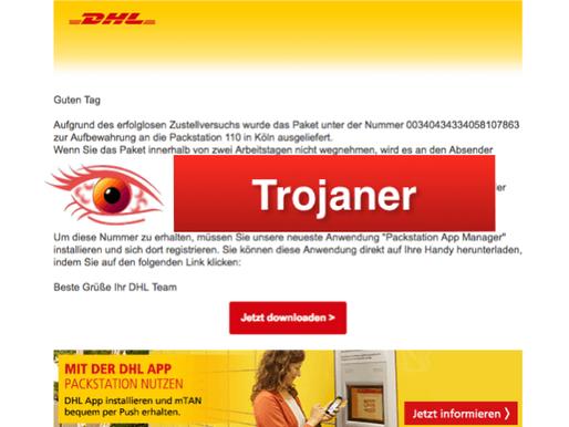 Vorsicht Trojaner: DHL Mail