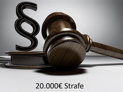 Aufsichtsbehörde Baden-Württemberg verhängt Bußgeld von 20.000€           nach DS-GVO