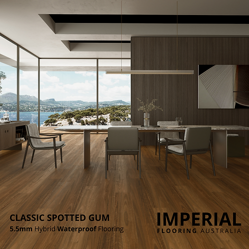 Classic Spotted Gum - 5.5mm Hybrid Waterproof Flooring 1540mm x 228mm