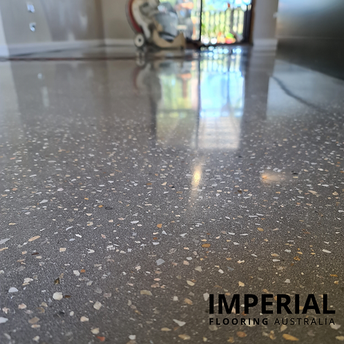 Cemimax ECOTAZ Dark Grey Polished Concrete Floor Topping Overlay