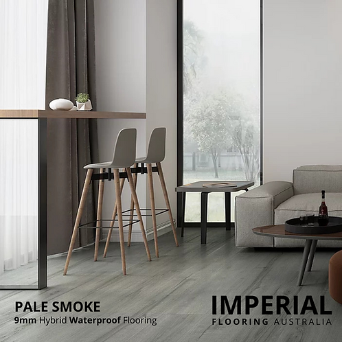 Pale Smoke - 9mm Hybrid Waterproof Flooring 1800mm x 228mm