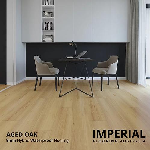 Aged Oak - 9mm Hybrid Waterproof Flooring 1800mm x 228mm