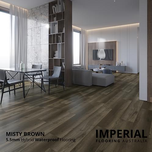 Misty Brown - 5.5mm Hybrid Waterproof Flooring 1540mm x 228mm