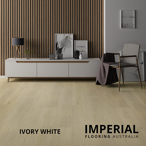 Ivory White - Hybrid Waterproof Flooring 1540mm x 182mm x 6.5mm