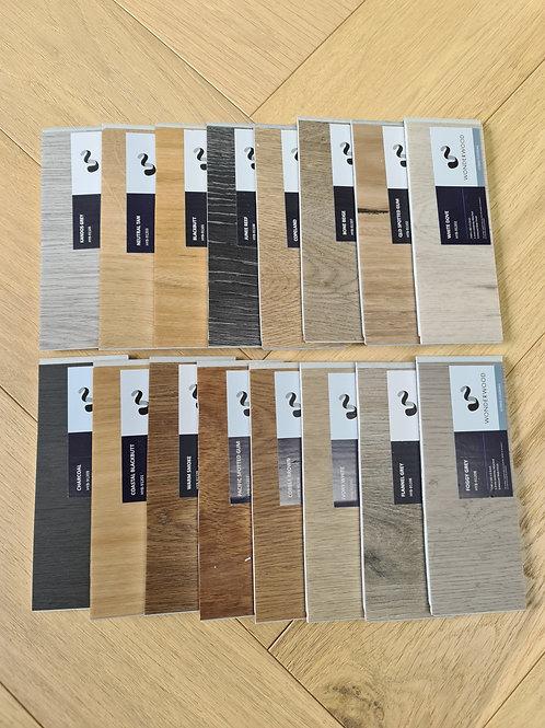 5 x Free Samples - 6.5mm Hybrid Waterproof Flooring Wonderwood