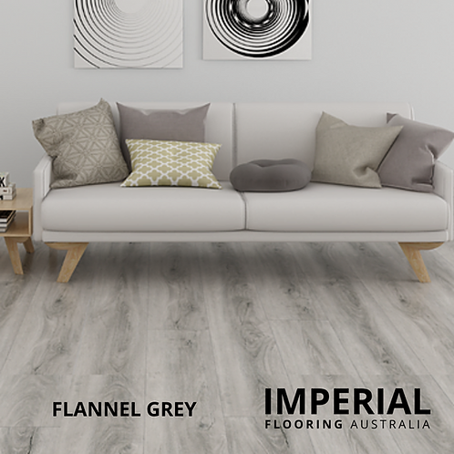 Flannel Grey - Hybrid Waterproof Flooring 1540mm x 182mm x 6.5mm