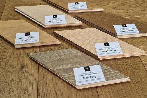 3 x Free Samples - 15mm Herringbone Oaks Parquet Timber Floors