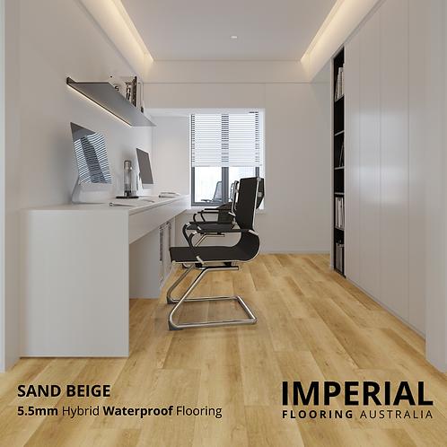 Sand Beige - 5.5mm Hybrid Waterproof Flooring 1540mm x 228mm