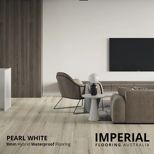 Pearl White - 9mm Hybrid Waterproof Flooring 1800mm x 228mm