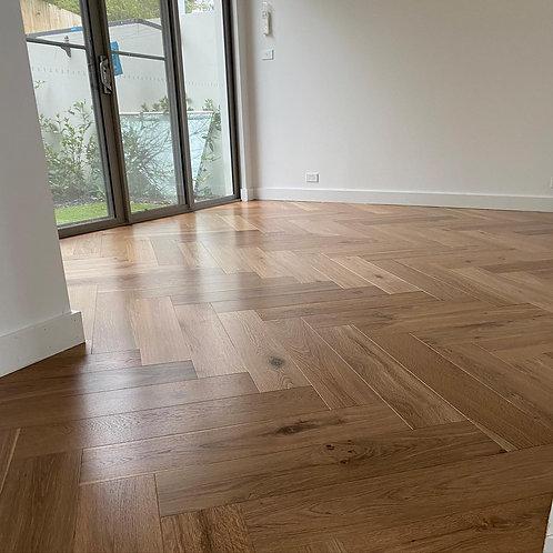 Herringbone Parquet Timber Flooring 750mm x 150mm x 14mm