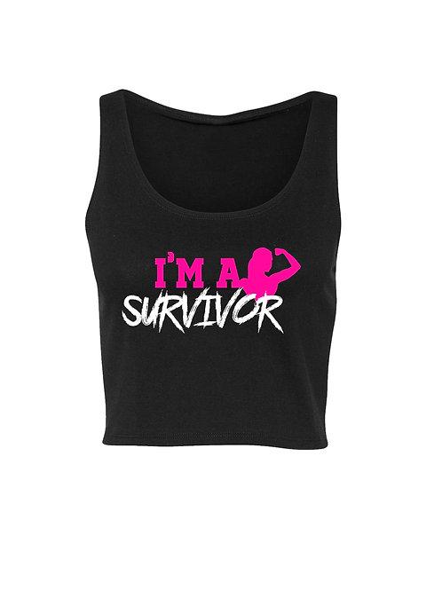 I'M A SURVIVOR CROPPED (BLACK)