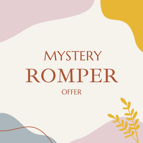 MYSTERY ROMPER up to 2 years