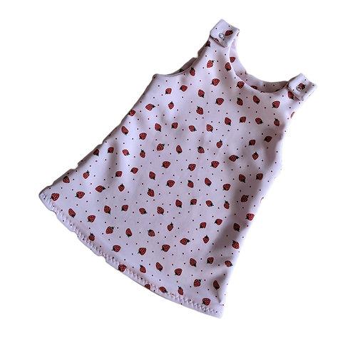 Strawberry Pinafore Dress