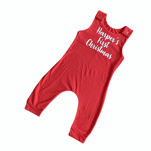 First Christmas Personalised Romper