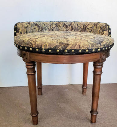 Upholstered vanity seat