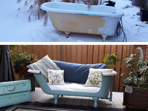 Vintage Bathtub Makeover