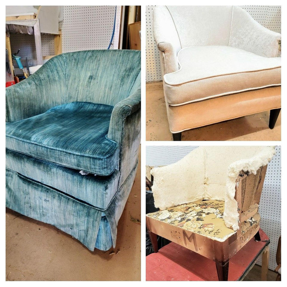 Tub chair before, during, after