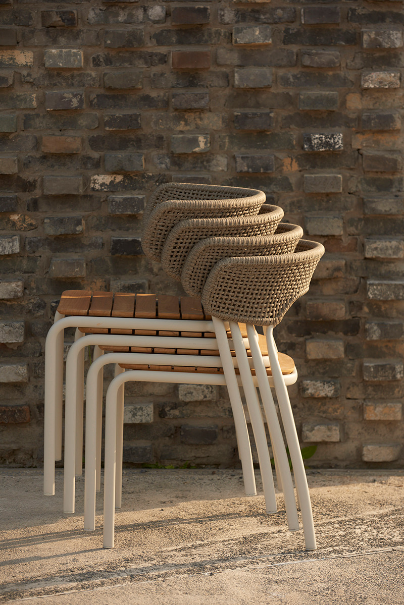 fishtail chair stacked