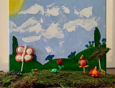 Makenna Maxwell, Summer Meadow, Mixed Media Landscape, 2021