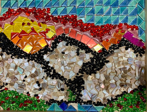 Cameron Rex, Glass Mountains, Glass Mosaic, 2021