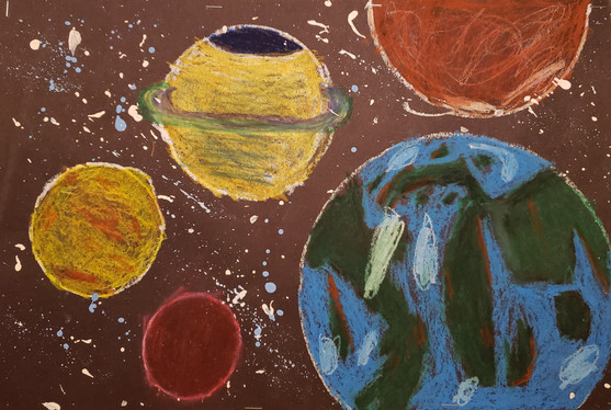 William Walters, Galaxy, Oil Pastels, 2021