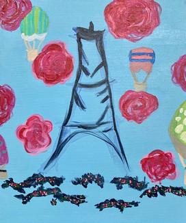 Sofia Jimenez , Parisian Escape, Painting, 2021