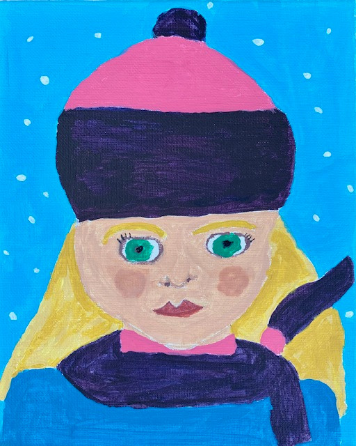 Brooking Murphy, Self Portrait, Painting, 2021