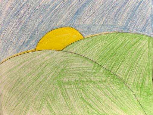 Heidi Clay, Morning Meadow, Colored Pencil, 2021