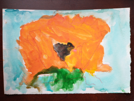 Anna Sellers, Poppy (after Georgia O'Keefe),  Painting, 2021