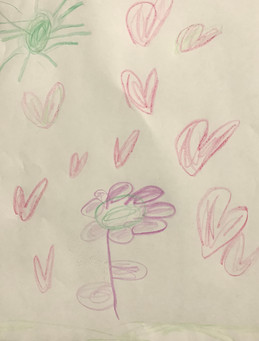 Ellana Sweet, Outside Flowers and Hearts, Crayon, 2021