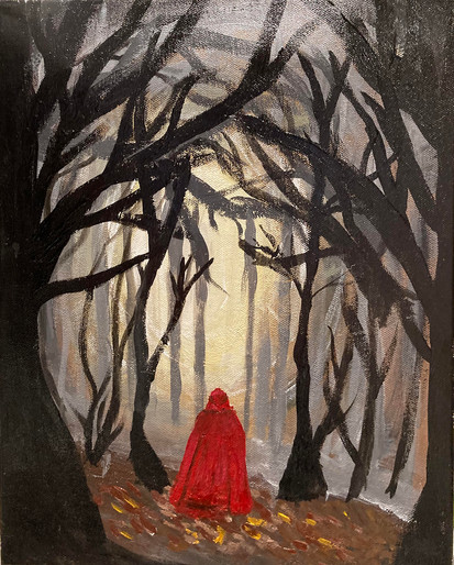 Taylor Huntsman, Into the Woods, Acrylic Painting, 2021
