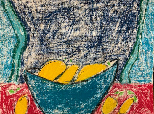 Maycee Manuel, Still Life with Lemons, Pastel Drawing 2021