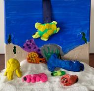 Joseph Baker, Aquatic Dream, Mixed Media Landscape, 2021
