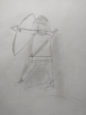 Samuel Sellers, Halt, Pencil Drawing, 2021