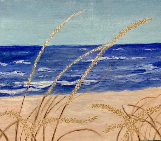 Elizabeth Holman, Wheat, Painting, 2021