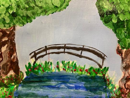 August Hansen, Quiet Park, Painting, 2021