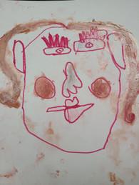 Emily Hickey, My Mom, Pen, Marker, Crayon, 2021