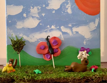 Avery McIntosh, Spring Meadow, Mixed Media Landscape, 2021