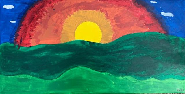 Jeri Escobedo, Evening Sunset, Painting, 2020