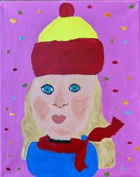 Sarah Emrich , Self Portrait, Painting,  2021