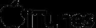 Itunes logo in black