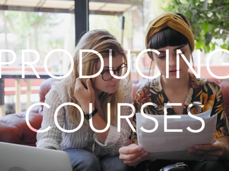 Producing courses
