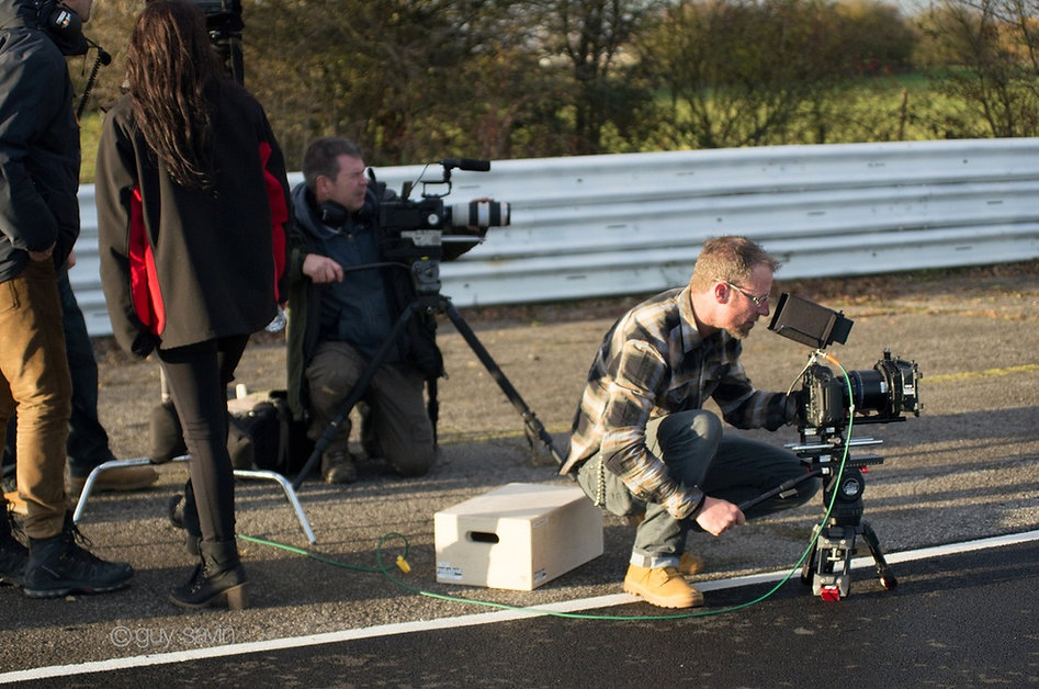 Fantelli Productions Crew on a racetrack filming