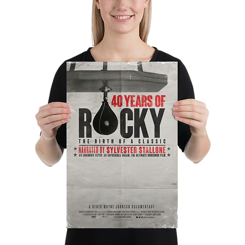 40 Years of Rocky Poster Official Movie Poster