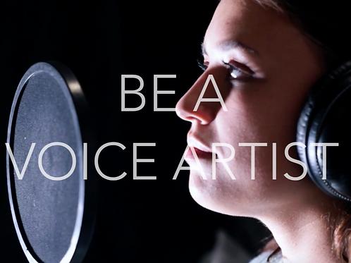Be a voice artist  course